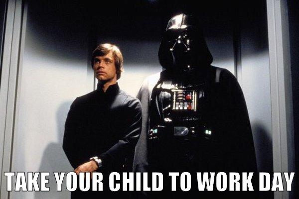 Luke Skywalker Darth Vader Meme Surf