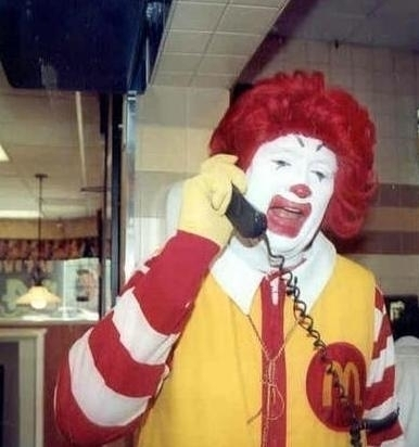 Ronald McDonald Phone Meme Template Thumbnail